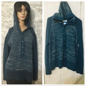 COLUMBIA Knit Sweater hoodie Size XL
